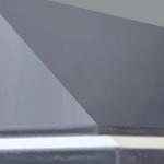 Tak av glassfiberarmert polyester (GRP) med gelcoat farge RAL 7024