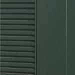 Kledning i pulverlakkert stål standard farge grønn RAL 6009
